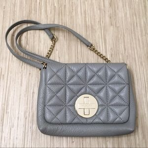 ♠️ Kate Spade Quilted Leather Grey Naomi Crossbody